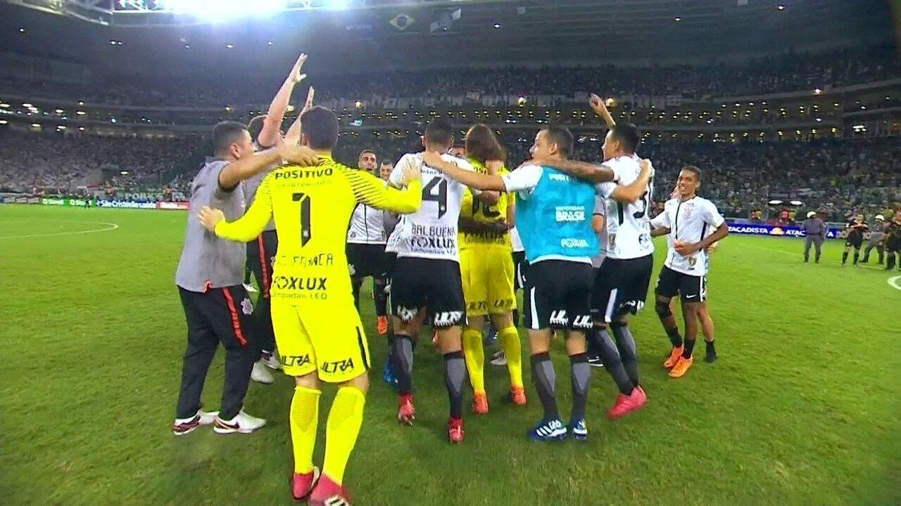 Os gols de Palmeiras 0 (3 x 4) 1 Corinthians pelo 2º joga da final do Campeonato Paulista