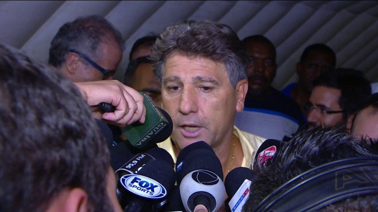 Renato Gaúcho recusa convite do Flamengo e diz que permanece no Grêmio