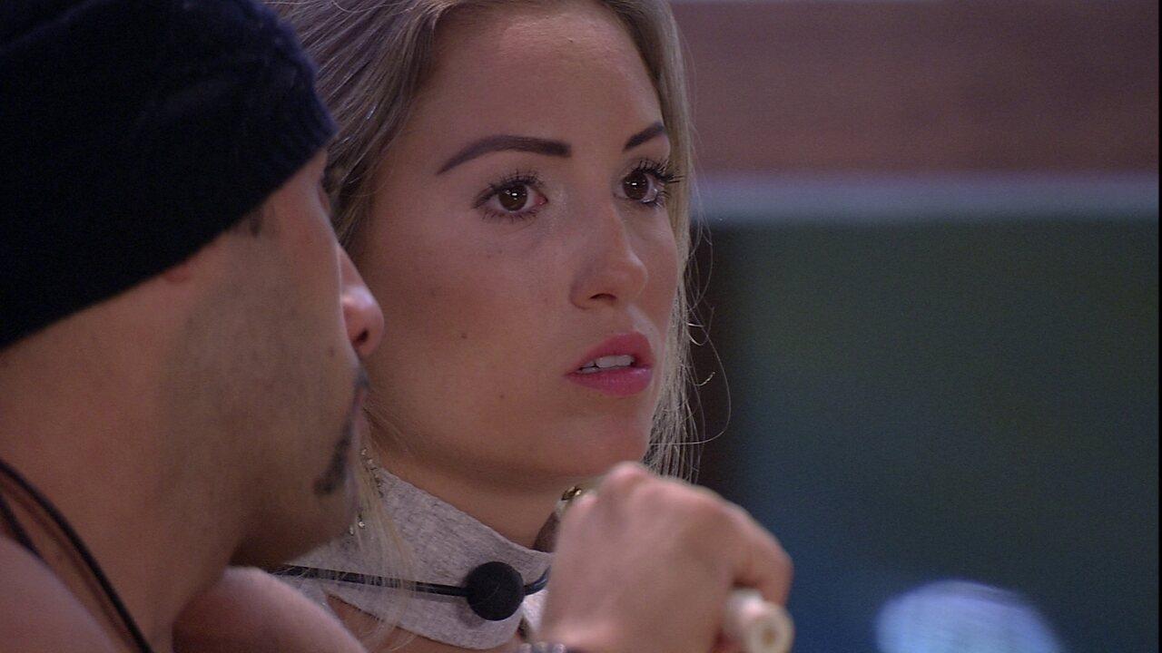 Kaysar deseja para Jéssica: 'Boa sorte'