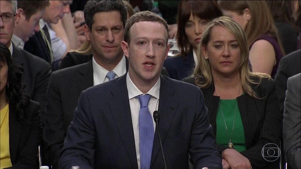 Jornal Nacional: Zuckerberg reconhece erro do Facebook na proteção de dados