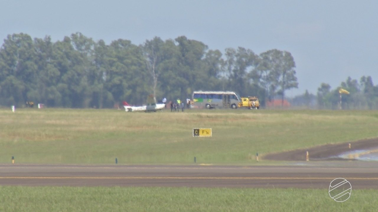 Avião bate em capivara durante arremetida no Aeroporto Internacional de Campo Grande