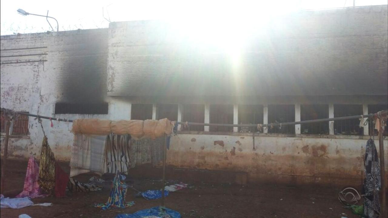 Incêndio atinge galeria do Presídio Estadual de Erechim
