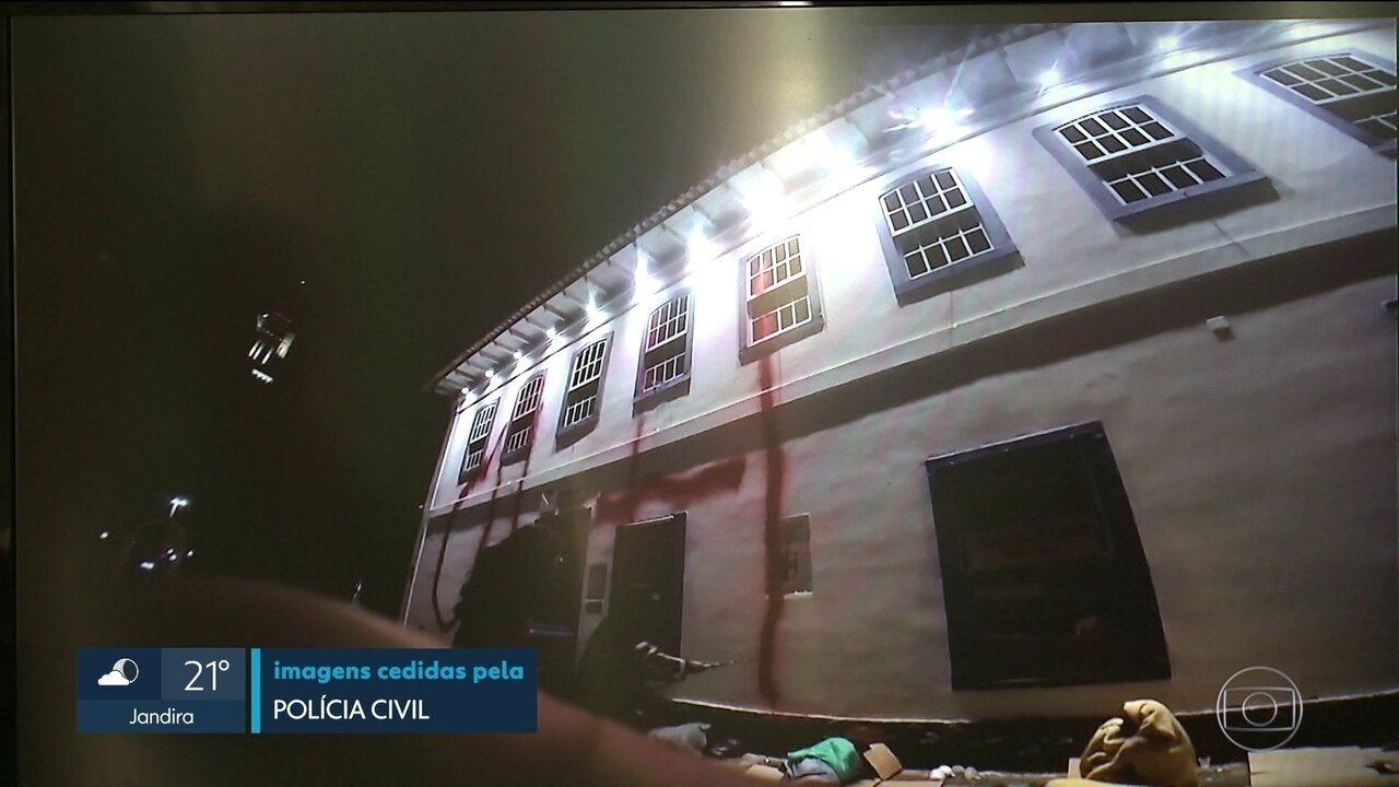 Polícia procura por terceiro suspeito de pichar fachada do Pateo do Collegio