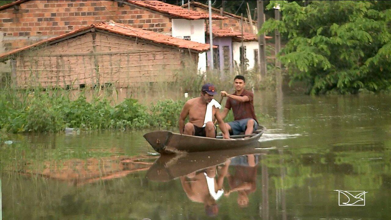 1.227 famílias afetadas pelas chuvas no Maranhão, diz Defesa Civil