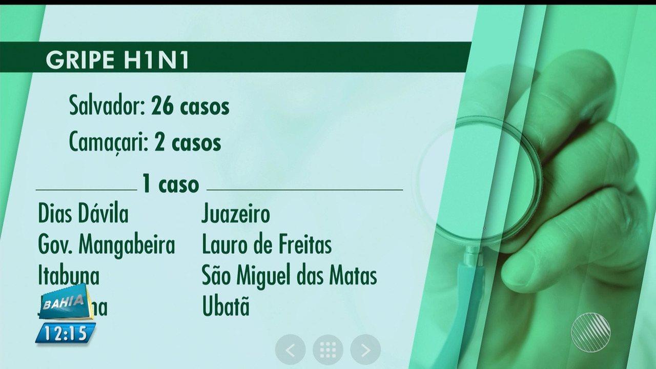 Dois casos de gripe H1N1 são confirmados em Serrinha, na região de Feira de Santana