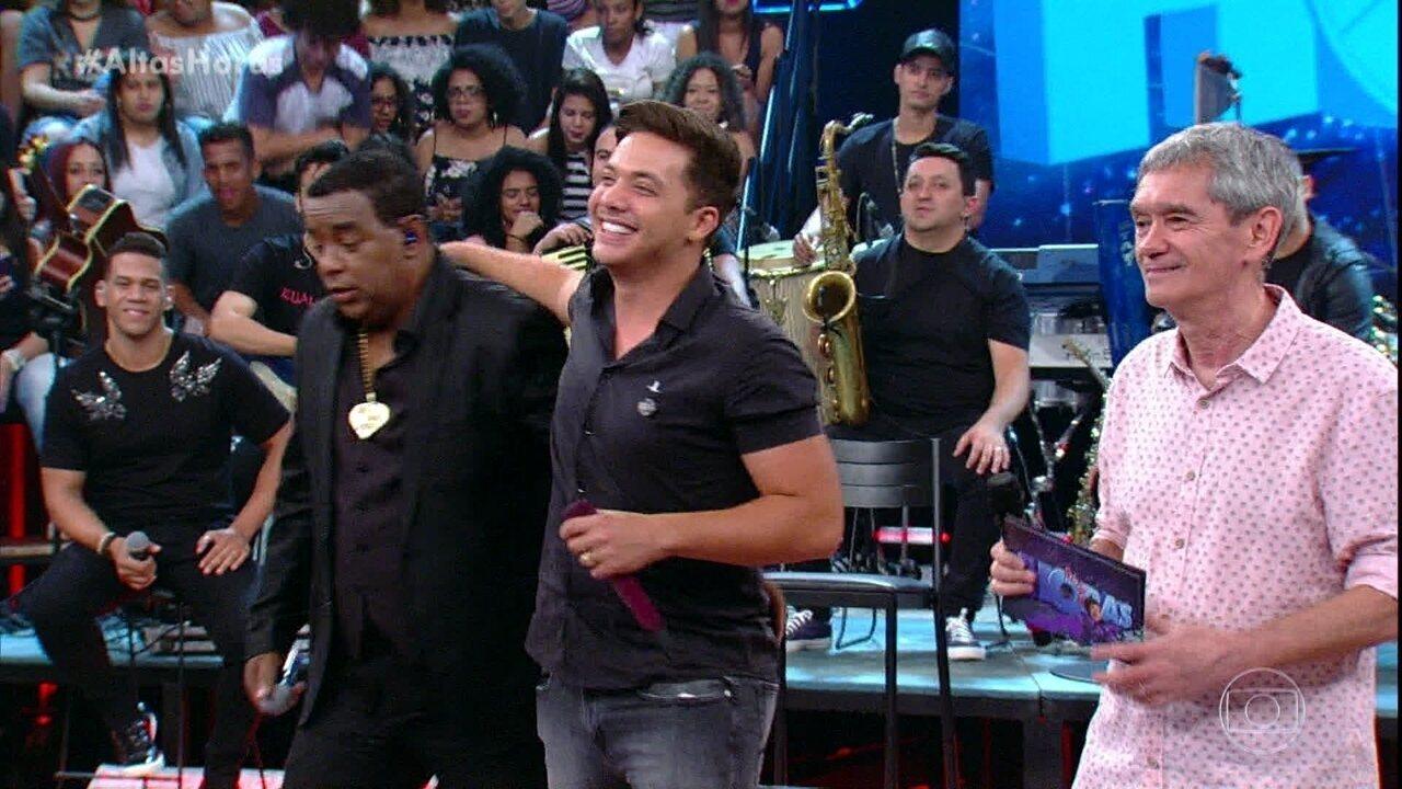 """Luiz Claudio, do Raça Negra, e Wesley Safadão cantam """"Cigana"""""""