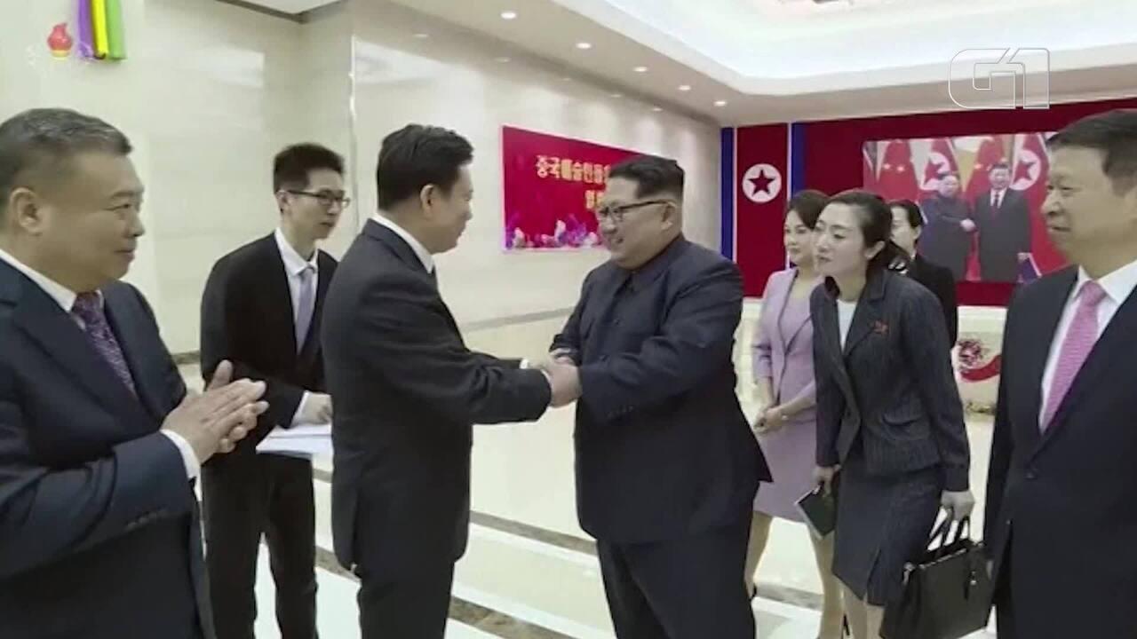 Kin Jong-un recebe delegação chinesa