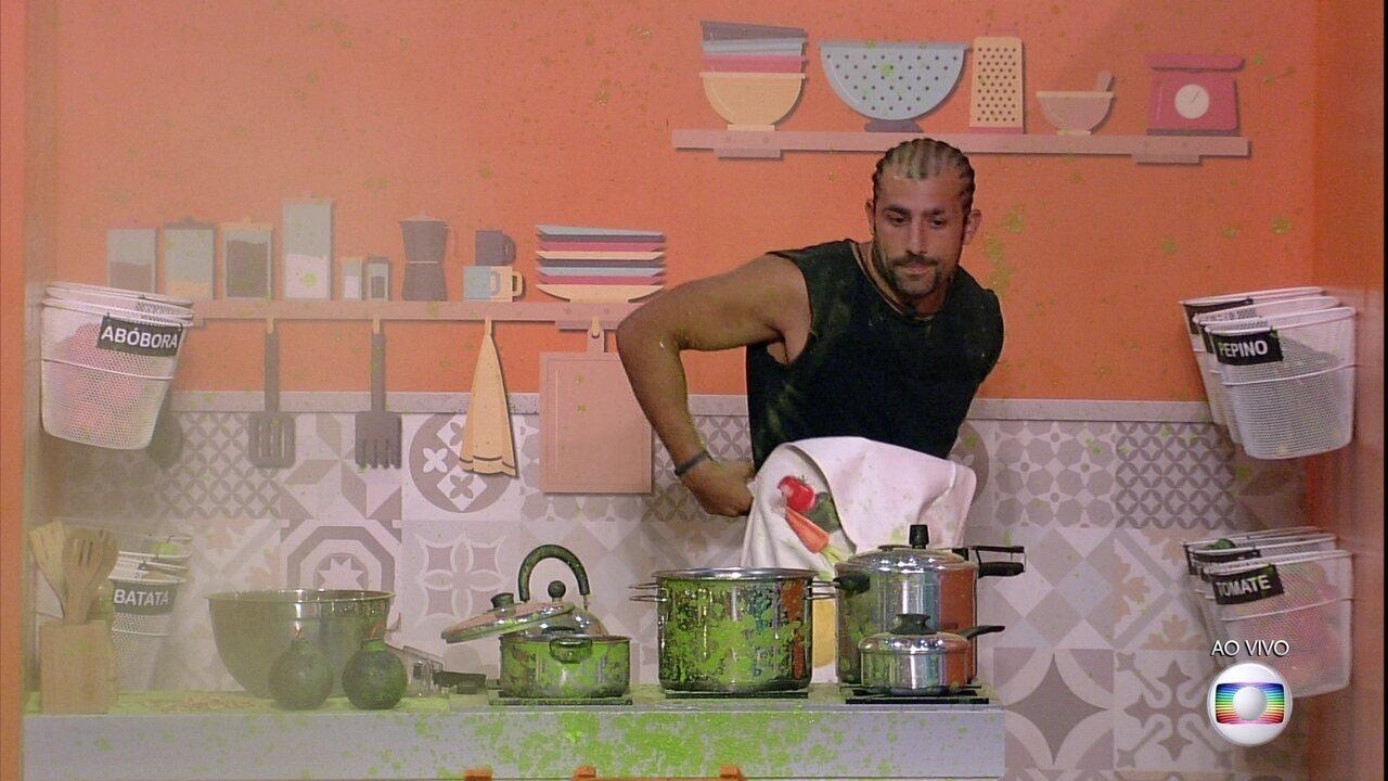 Prova do Líder Cozinha Explosiva: Kaysar é eliminado