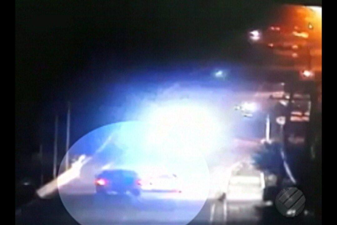 Câmeras de segurança registram acidente em ponte que matou casal em Paragominas
