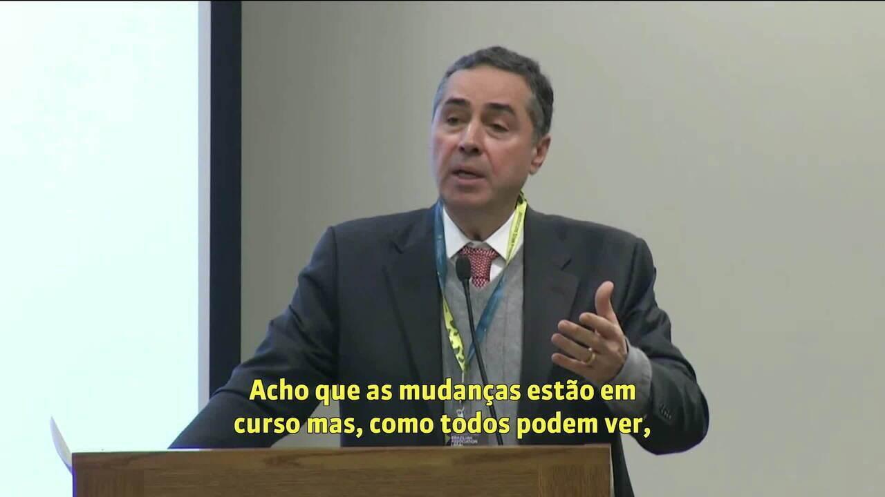 Em Harvard, Luís Roberto Barroso diz que Brasil enfrenta forte reação às mudanças