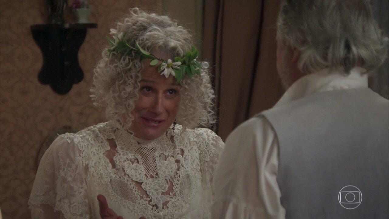 Ofélia e Felisberto renovam os votos de casamento