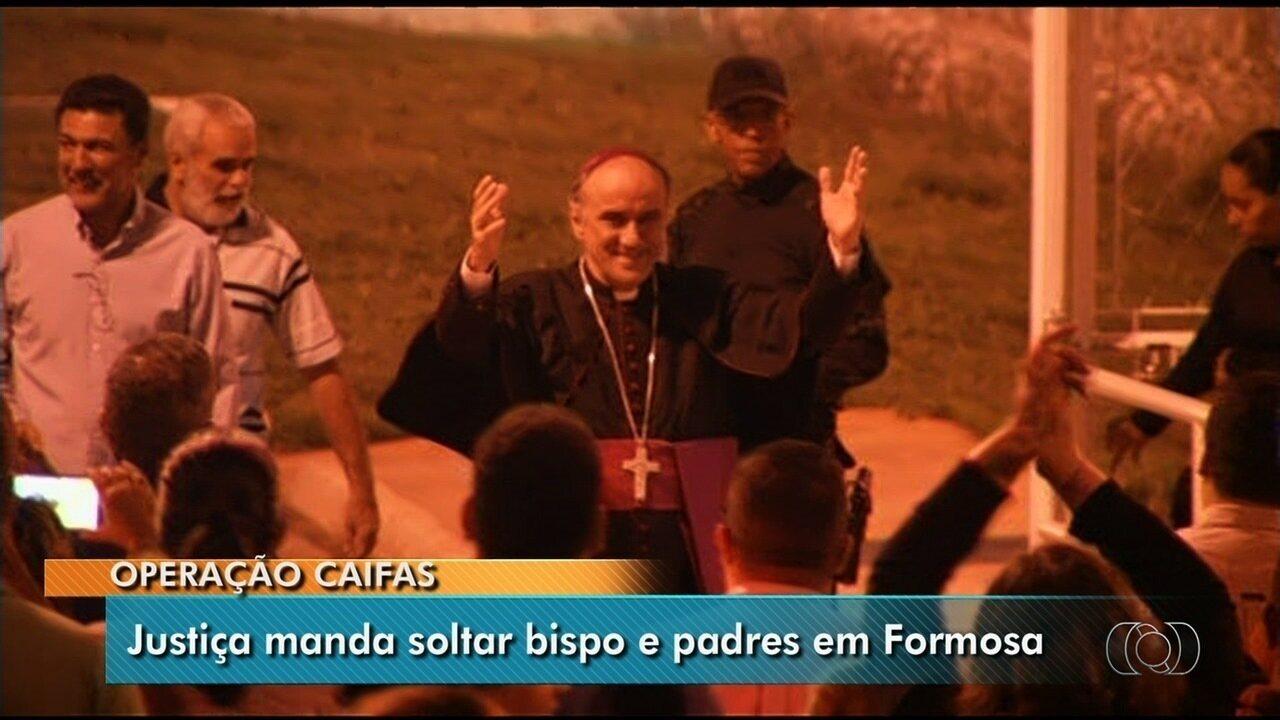 Bispo e padres acusados de desviar dízimo deixam a cadeia em Formosa