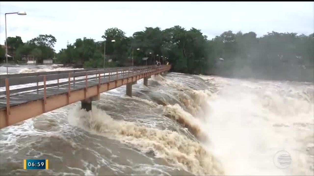 1ee7fb7acd Passarela da Cachoeira do Urubu em Esperantina é interditada por segurança