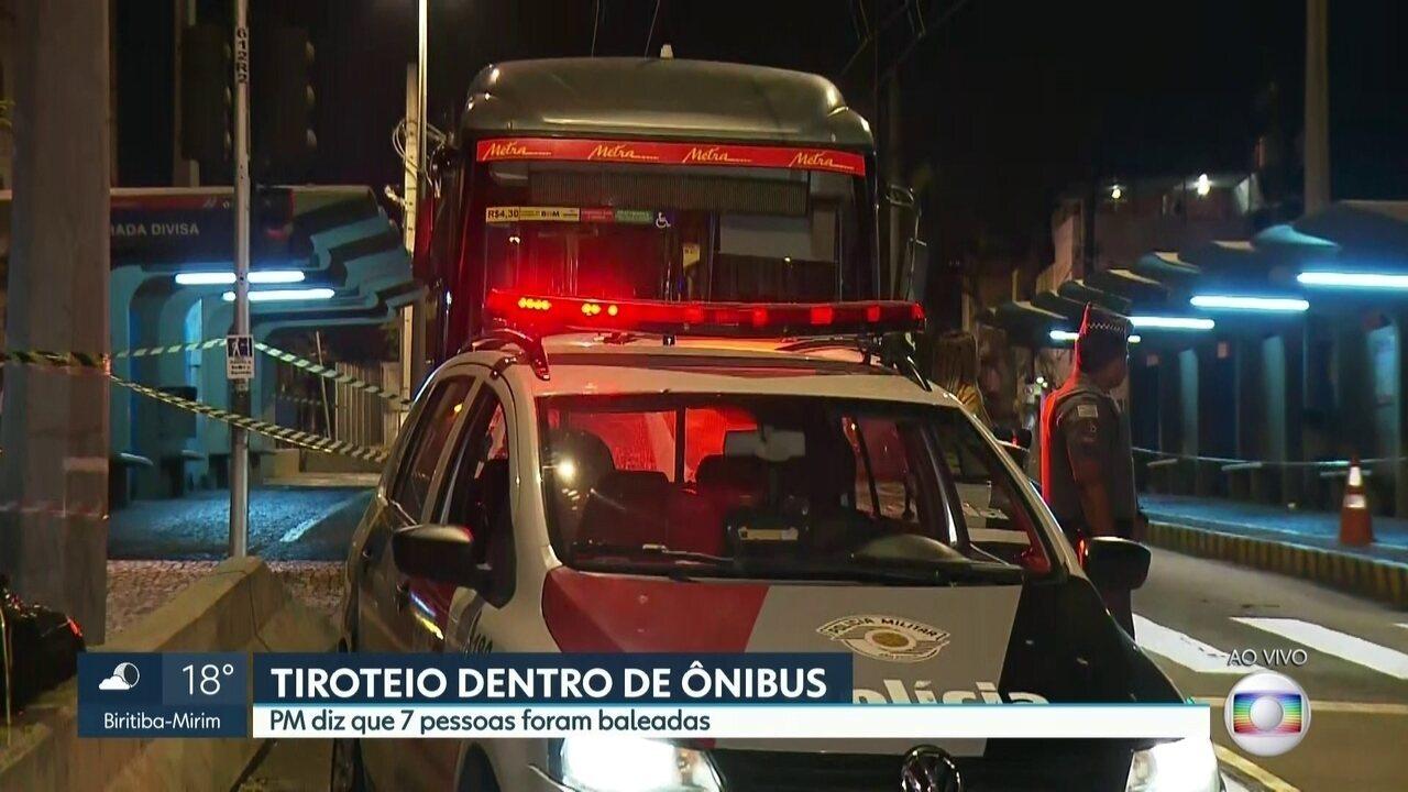 Tiroteio dentro de ônibus mata três pessoas e deixa quatro feridas no Jabaquara