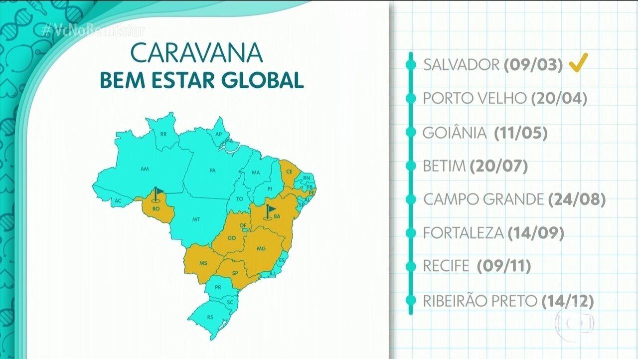 Bem Estar Global vai percorrer várias cidades do Brasil