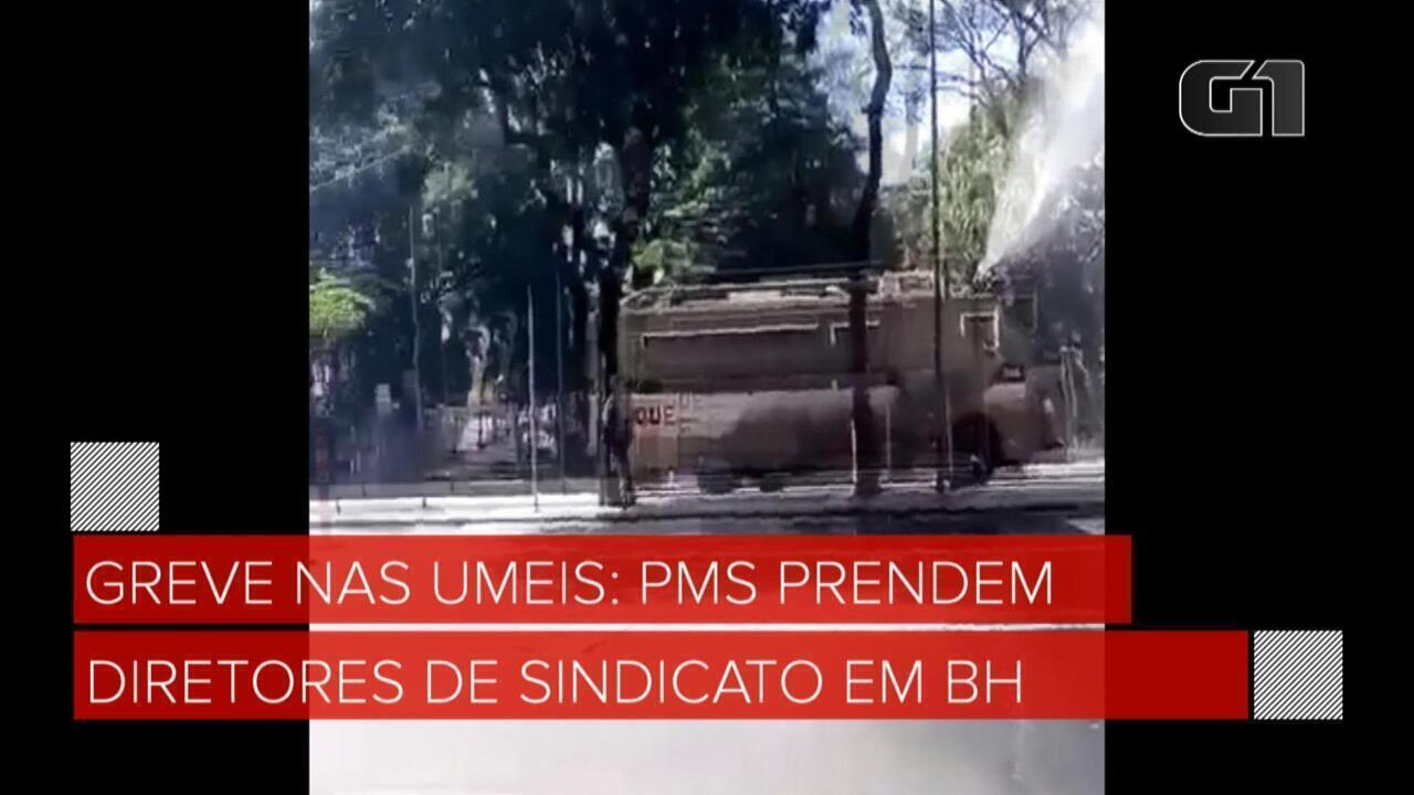 Greve nas Umeis: PMs prendem diretores de sindicato em BH