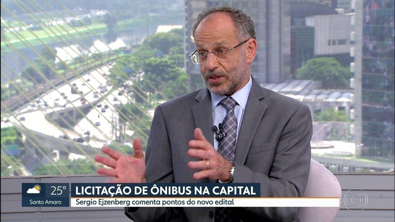 Sergio Ejzenberg comenta pontos do novo edital da licitação de ônibus da Capital