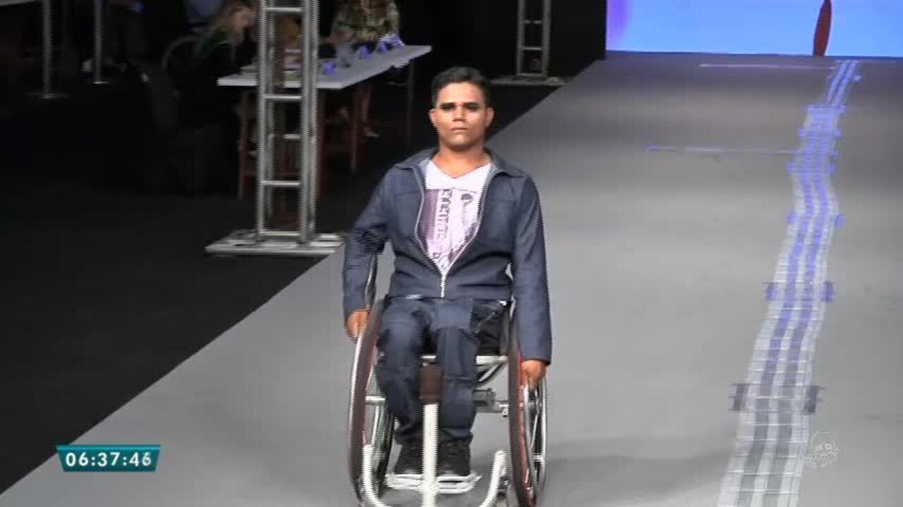 Resultado de imagem para Desfile de moda com pessoas deficientes mostra inclusão no Festival da Moda de Fortaleza