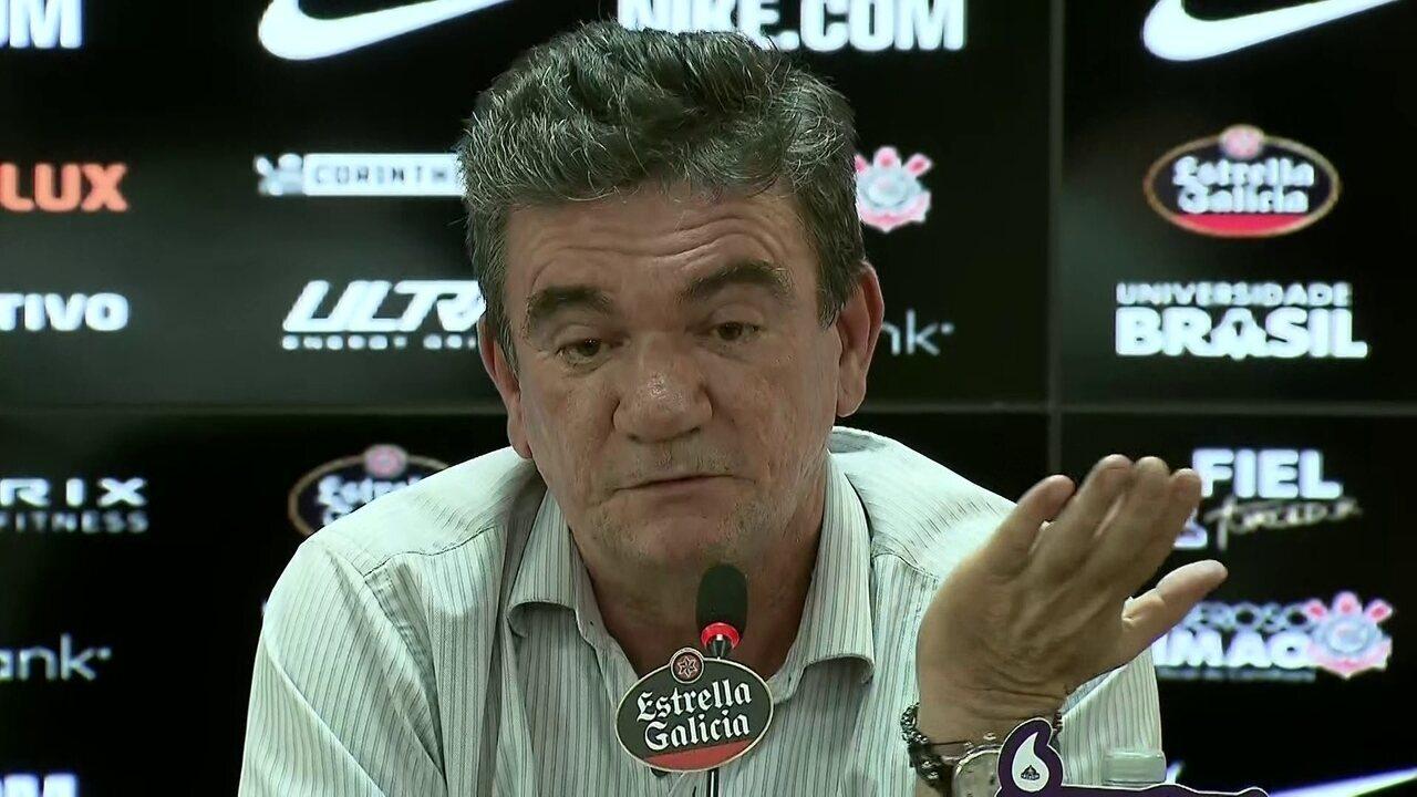 Veja a íntegra da coletiva de imprensa do presindente do Corinthians, Andrés Sanchez