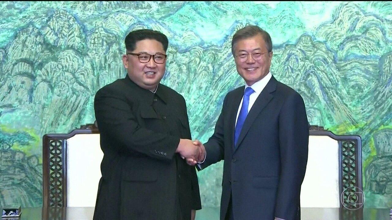 Presidentes das Coreias se encontram pela primeira vez em 11 anos