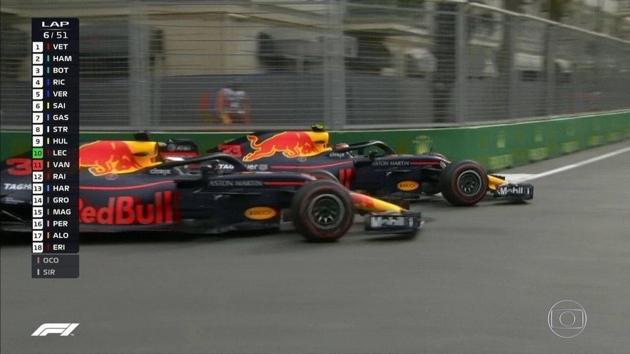 Ricciardo perde duas posições na relargada do GP do Azerbaijão
