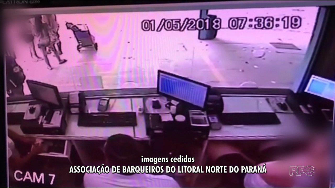 Em Pontal do Paraná, ladrões tentaram assaltar guichê de venda de passagens