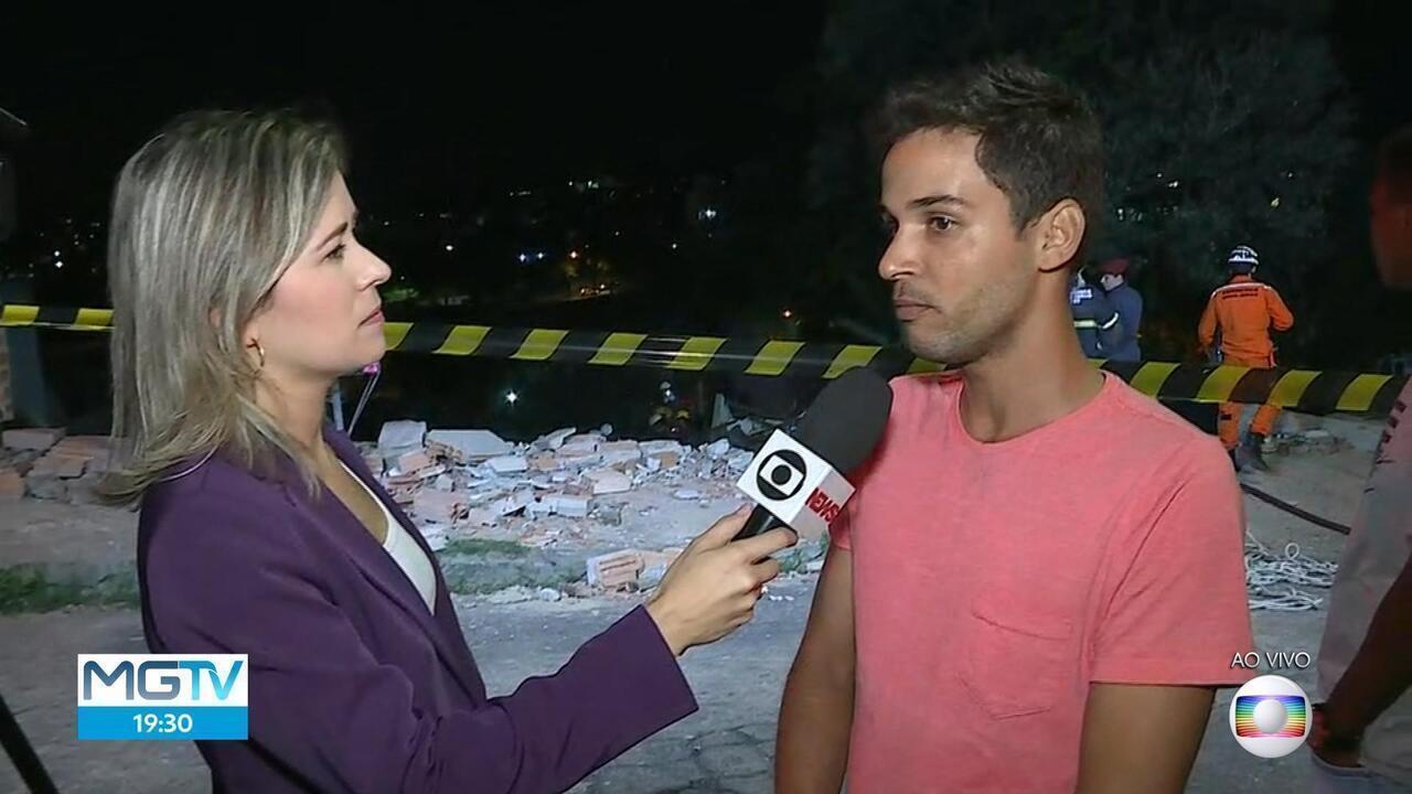 Bombeiros procuram por desaparecidos em desabamento na Região de Venda Nova