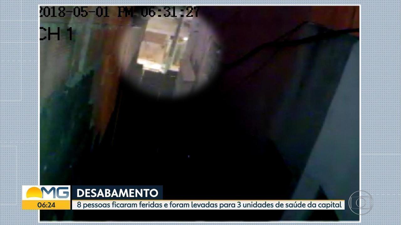 Vídeo mostra momento em que centro religioso desaba em Belo Horizonte
