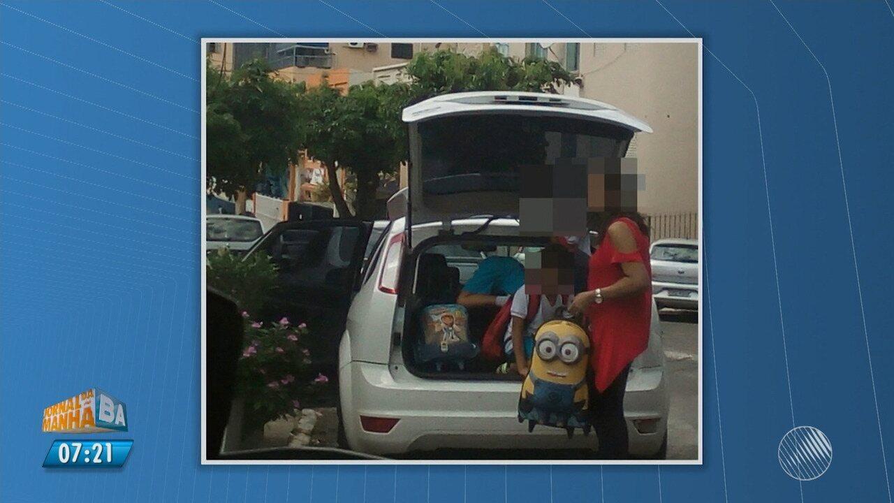 Flagrantes: estudantes são transportados até em malas de carros em Salvador