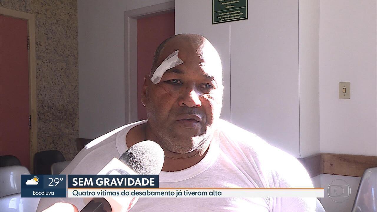 Quatro vítimas de desabamento em Venda Nova, em BH, recebem alta