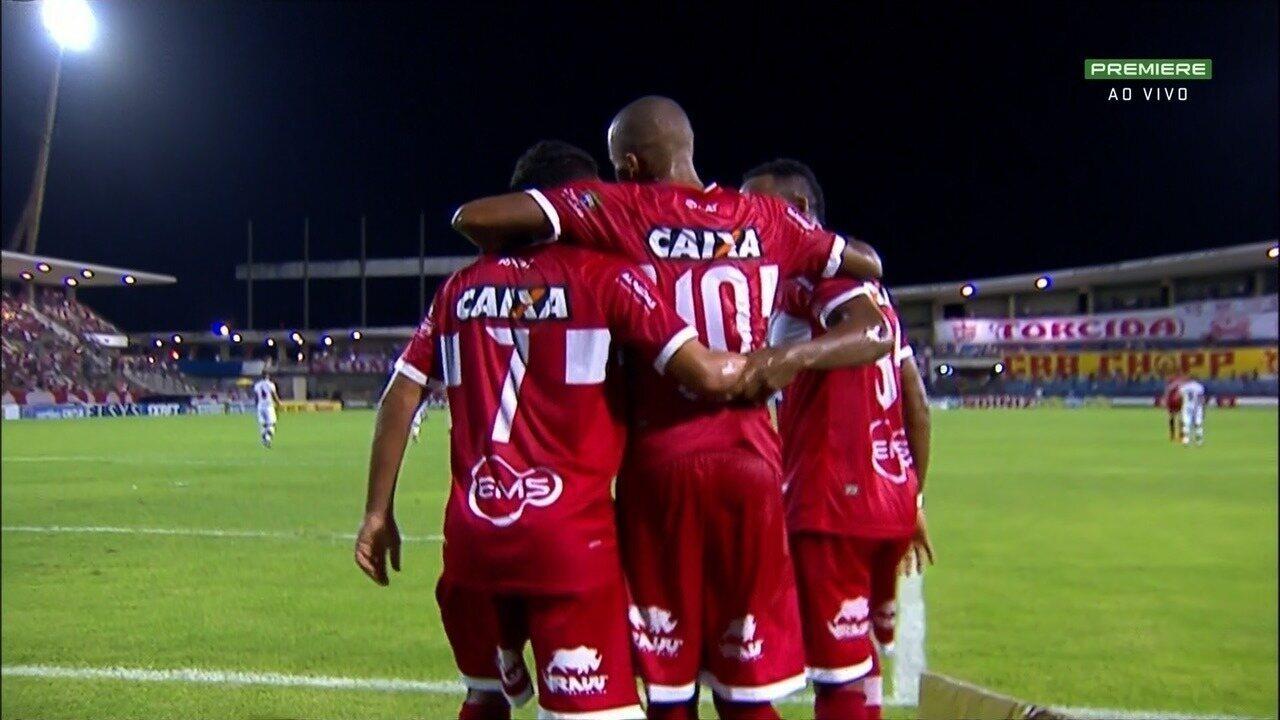 Os gols de CRB 3 a 1 Atlético-GO, pela quarta rodada Série B