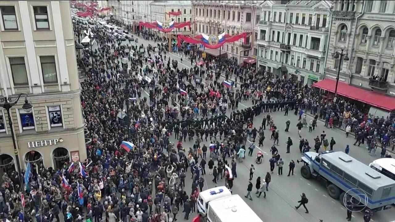 1.600 presos em protesto na Rússia