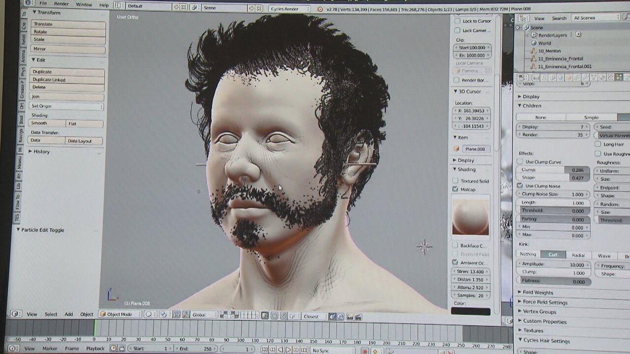 Trabalho em 3D reconstrói rostos de ilustres e pessoas comuns