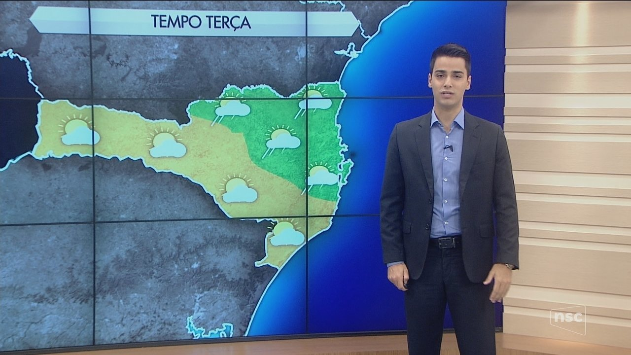Segunda-feira começa com tempo nublado e condições características de outono