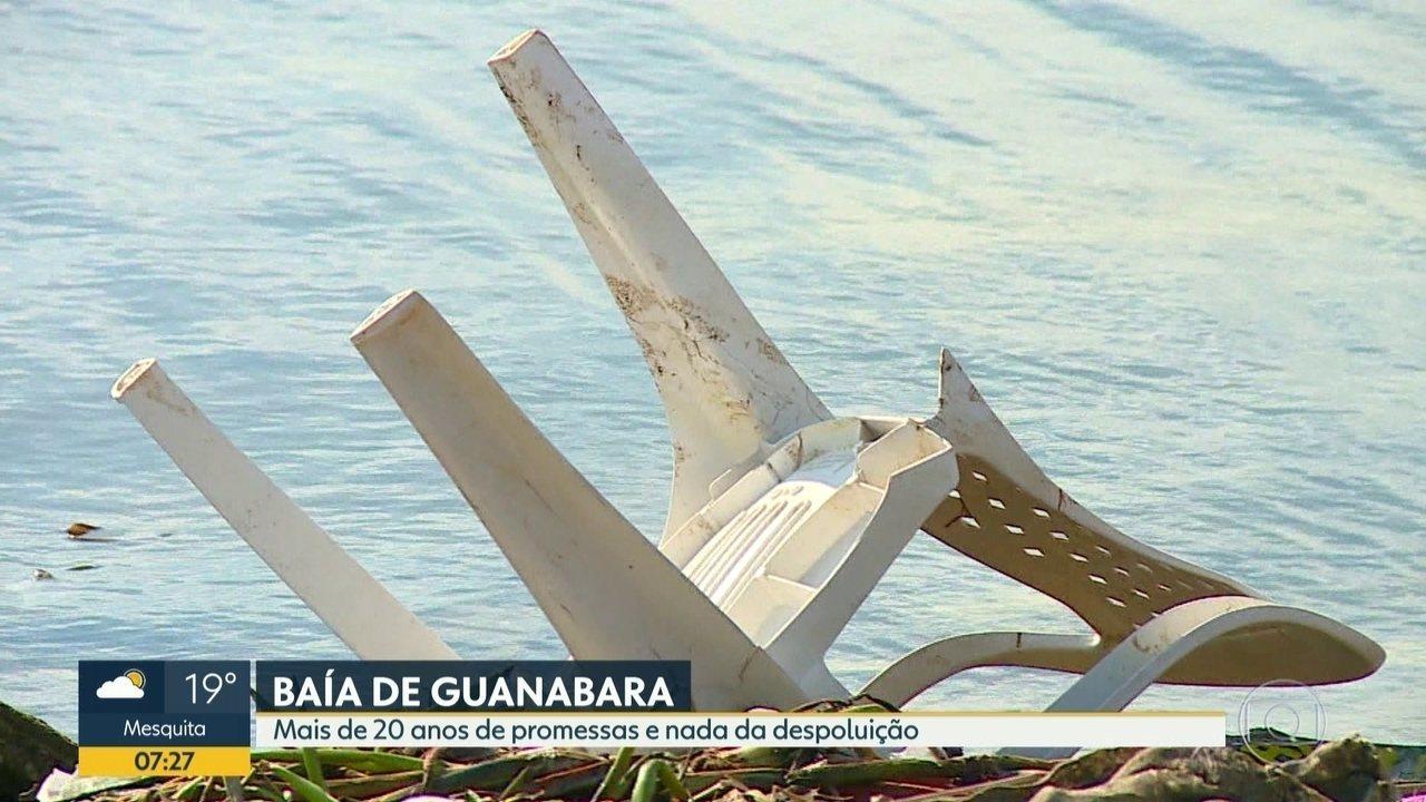 Baía de Guanabara segue poluída após mais de 20 anos de promessas