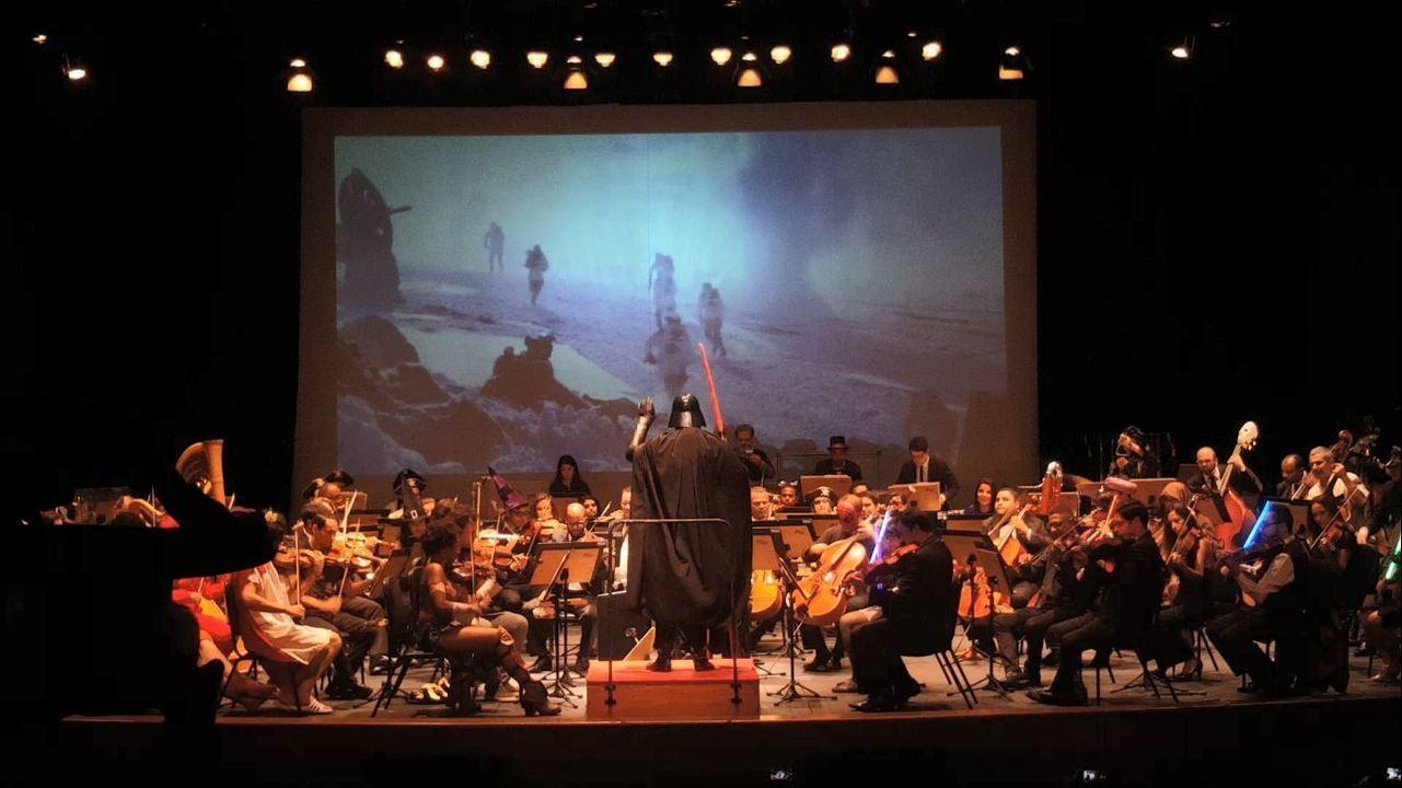 Darth Vader rege orquestra sinfônica no ES