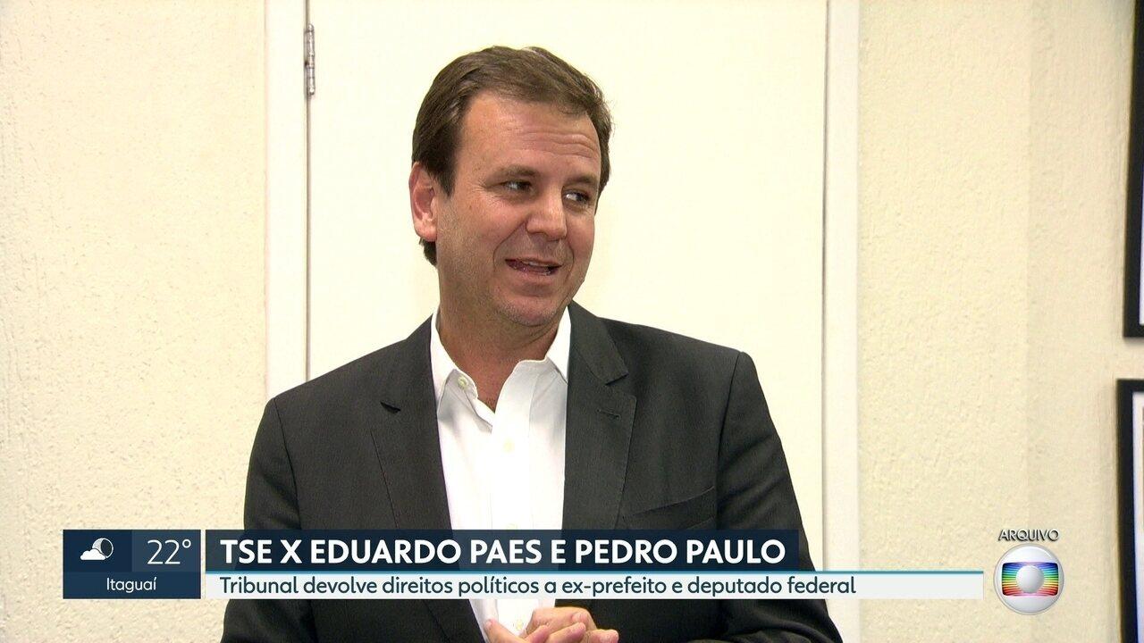 TSE devolve direitos políticos a Eduardo Paes e Pedro Paulo