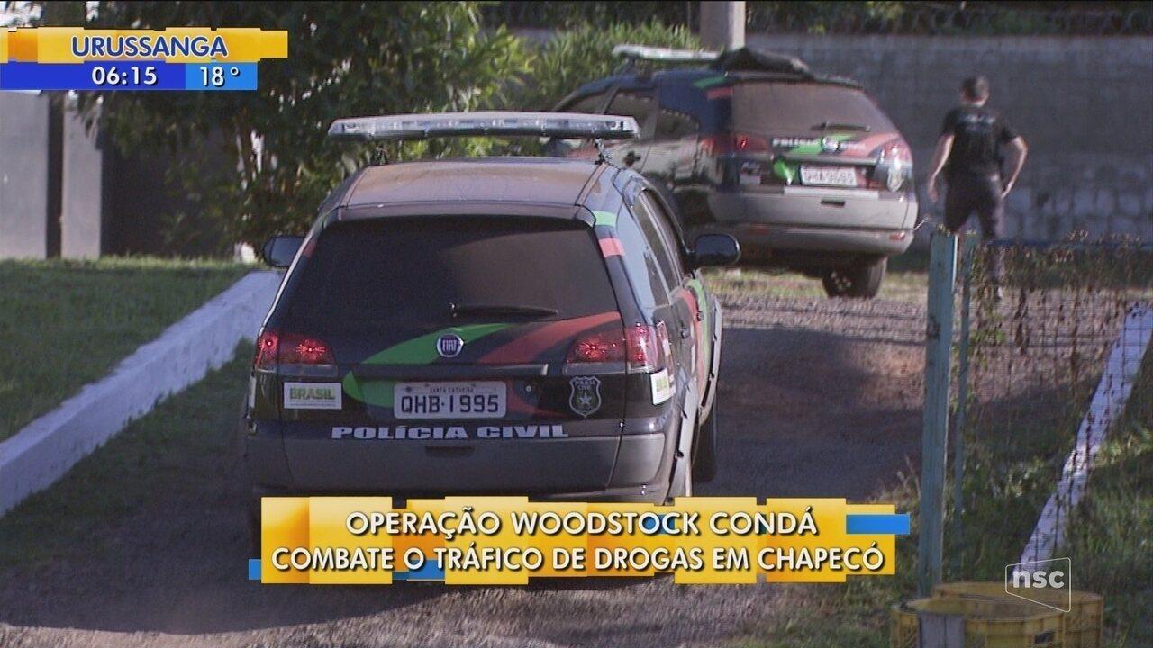Polícia Civil deflagra maior operação de 2018 em Chapecó