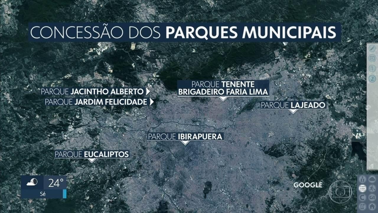 Prefeitura vai publicar edital de concessão do primeiro lote dos parques da capital