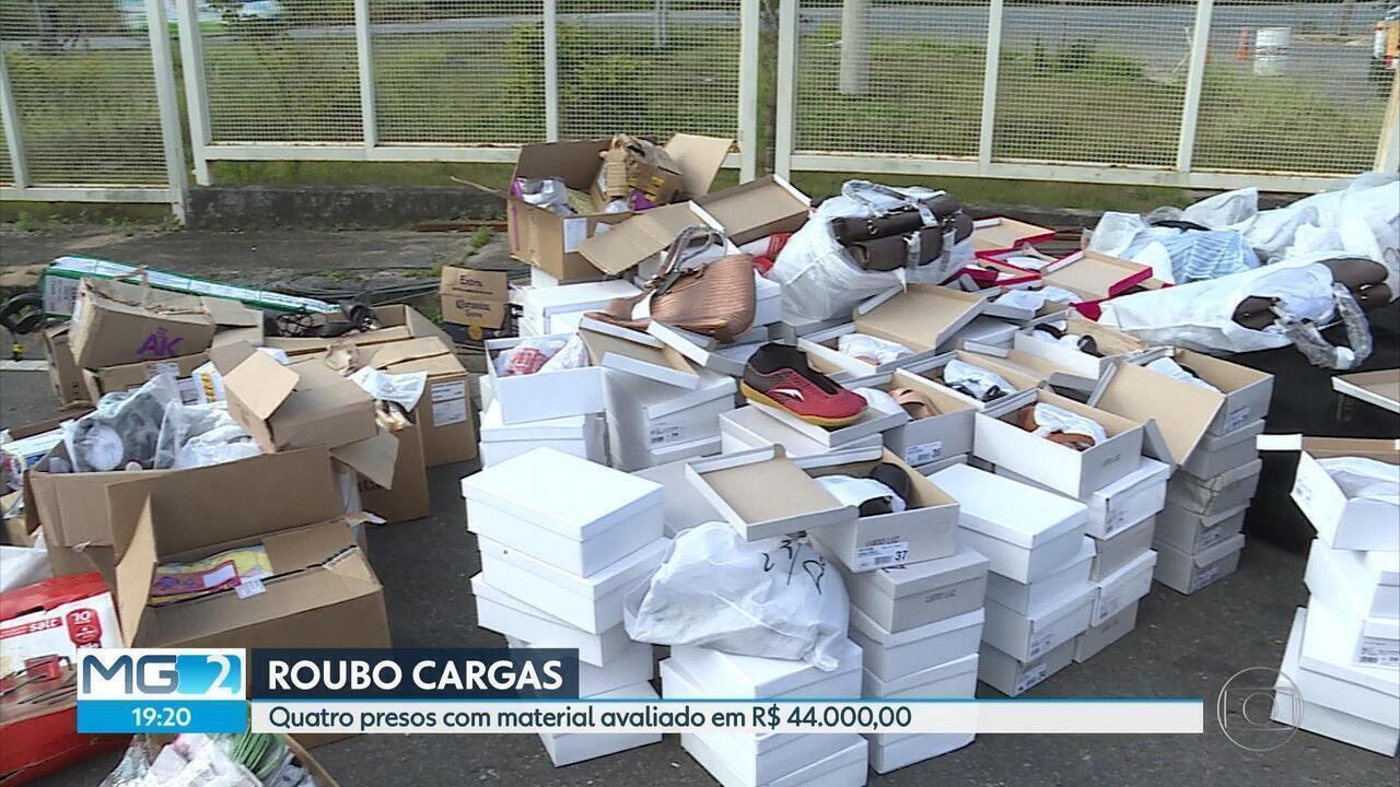Polícia prende quatro suspeitos de envolvimento em roubo de cargas na Grande BH