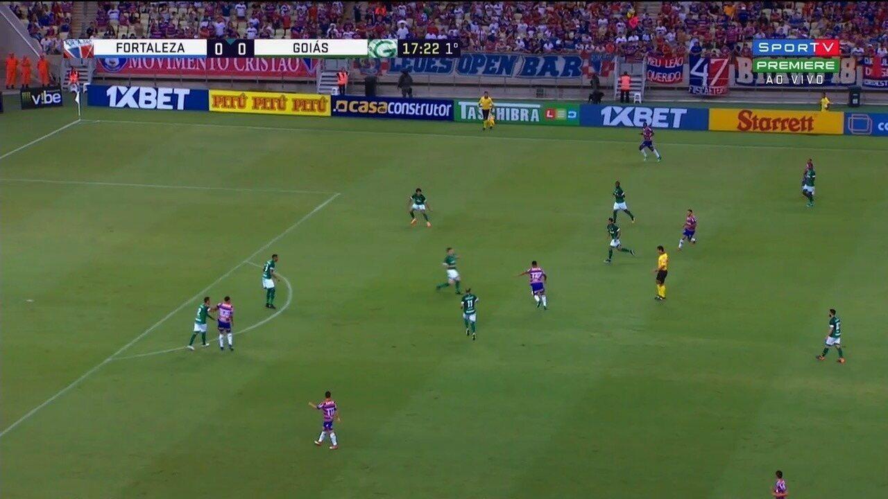 Veja os melhores momentos do jogo entre Fortaleza e Goiás