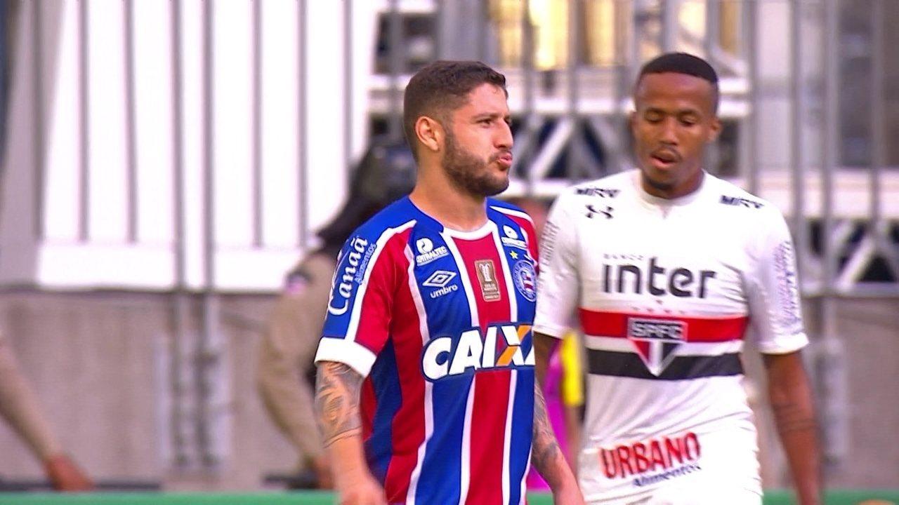 Melhores momentos: Bahia 2 x 2 São Paulo pela 5ª rodada do Brasileirão