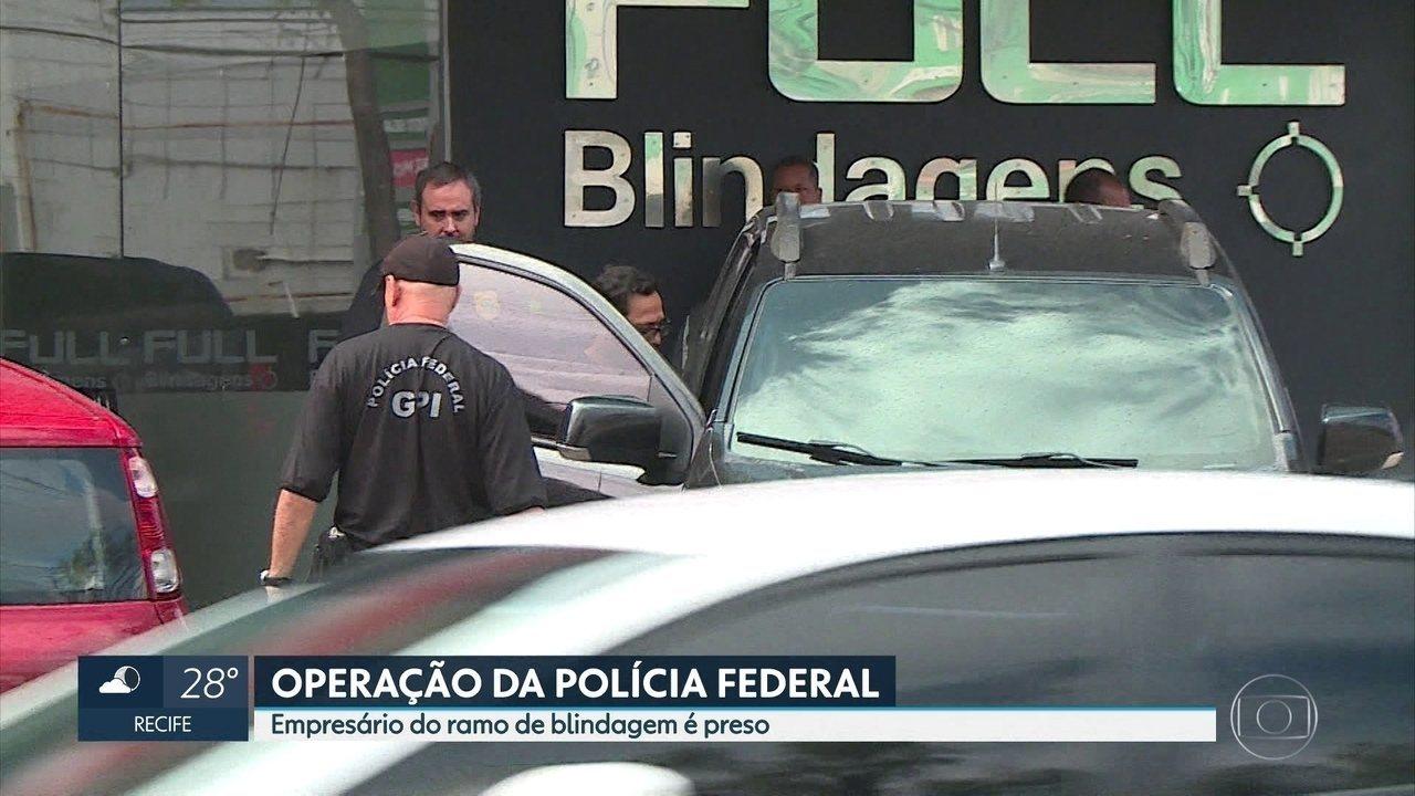 No Recife, PF prende empresário acusado de envolvimento em esquema de lavagem de dinheiro
