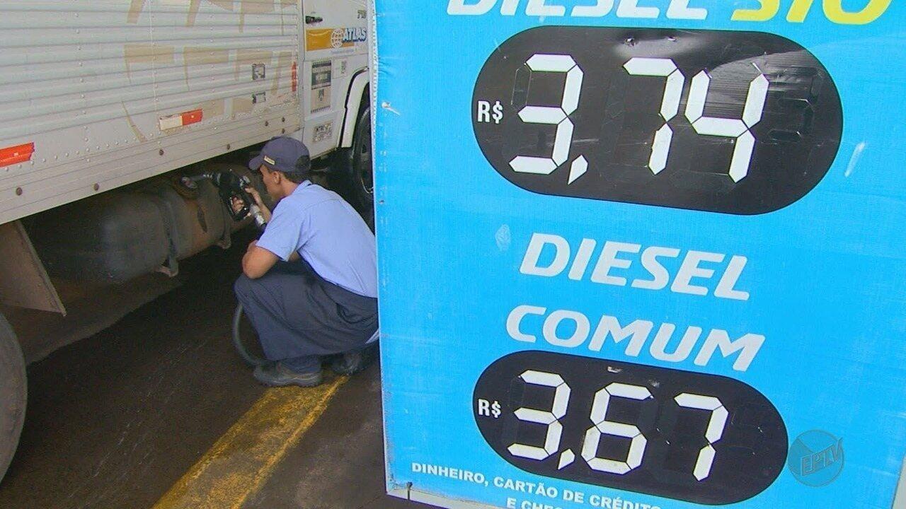 Litro do diesel está mais caro nos postos da região de Ribeirão Preto