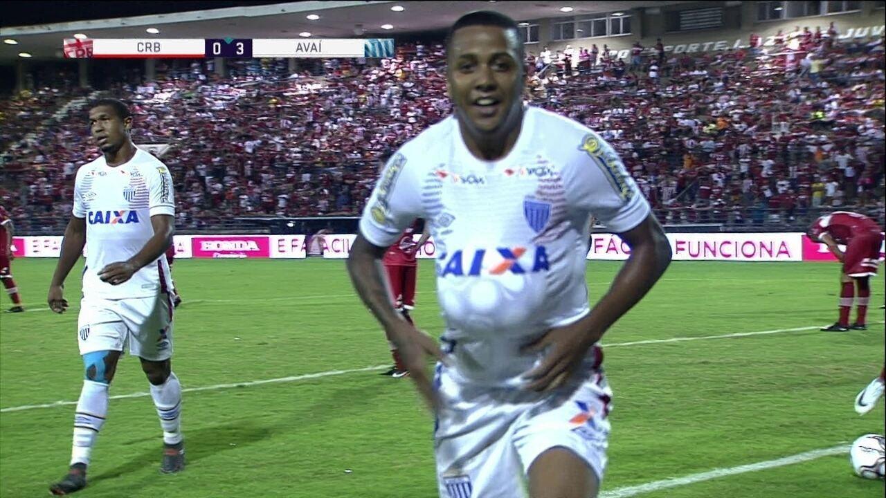 Os gols de CRB 0 x 4 Avaí pela 6ª rodada da Série B do Brasileiro