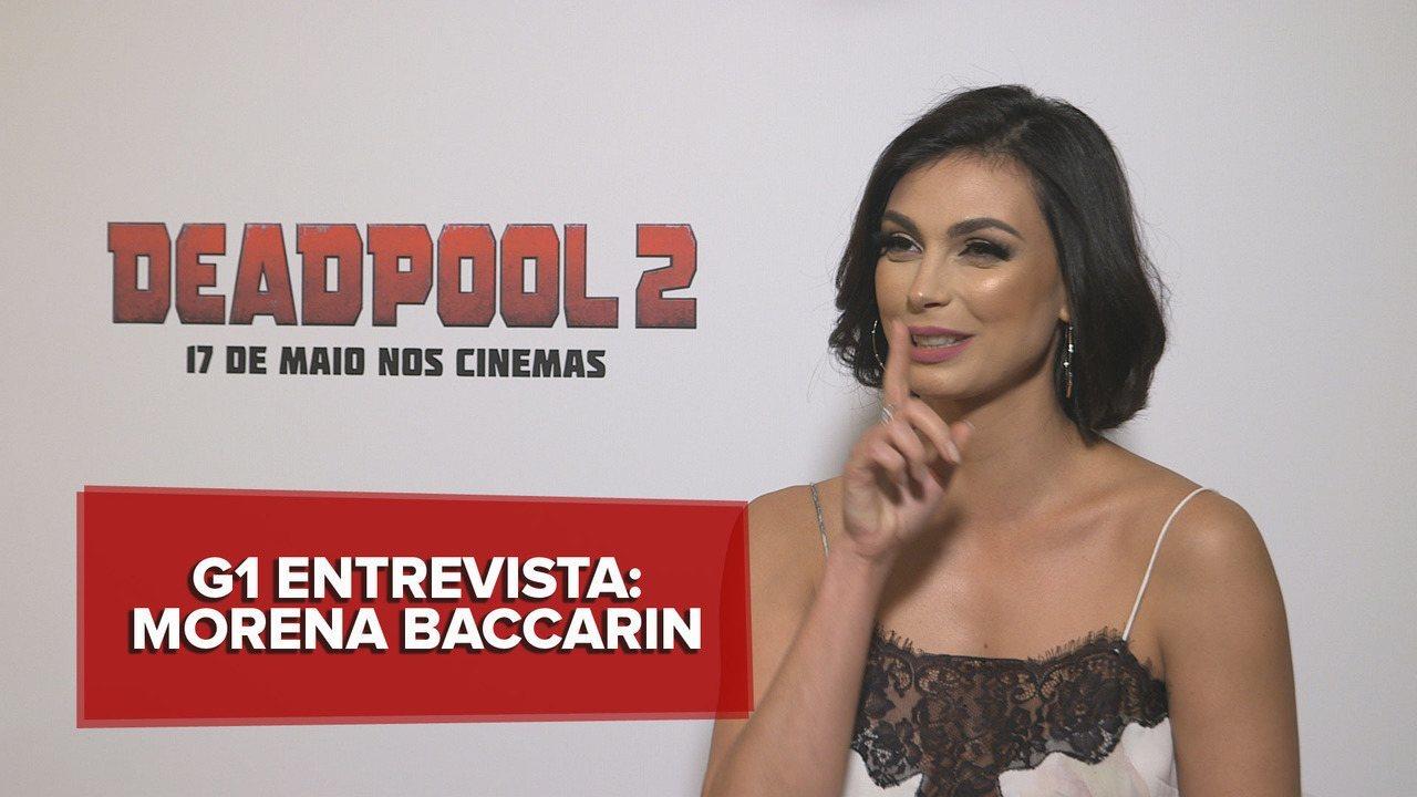 'Deadpool 2', apelido de Ryan Reynolds, risos e cenas chocantes: Morena Baccarin fala novo
