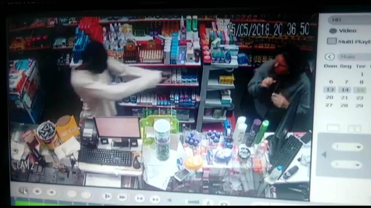 Dupla é detida após roubar farmácia no Bairro Grama em Juiz de Fora