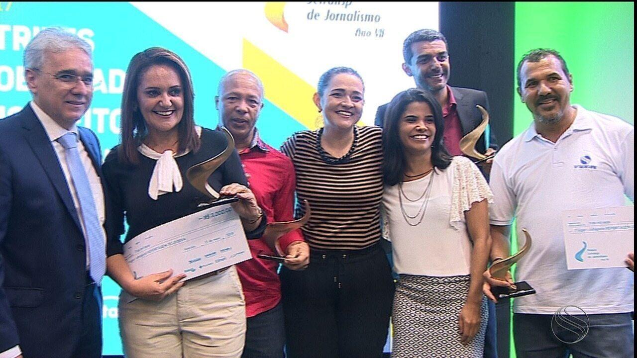 G1 e TV Sergipe vencem Prêmio Setransp de Jornalismo