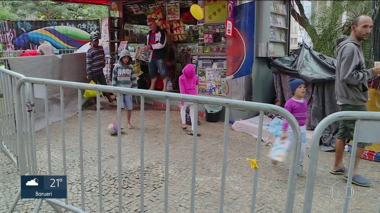 Conselho Tutelar vai analisar situação das famílias acampadas com crianças no Paissandu