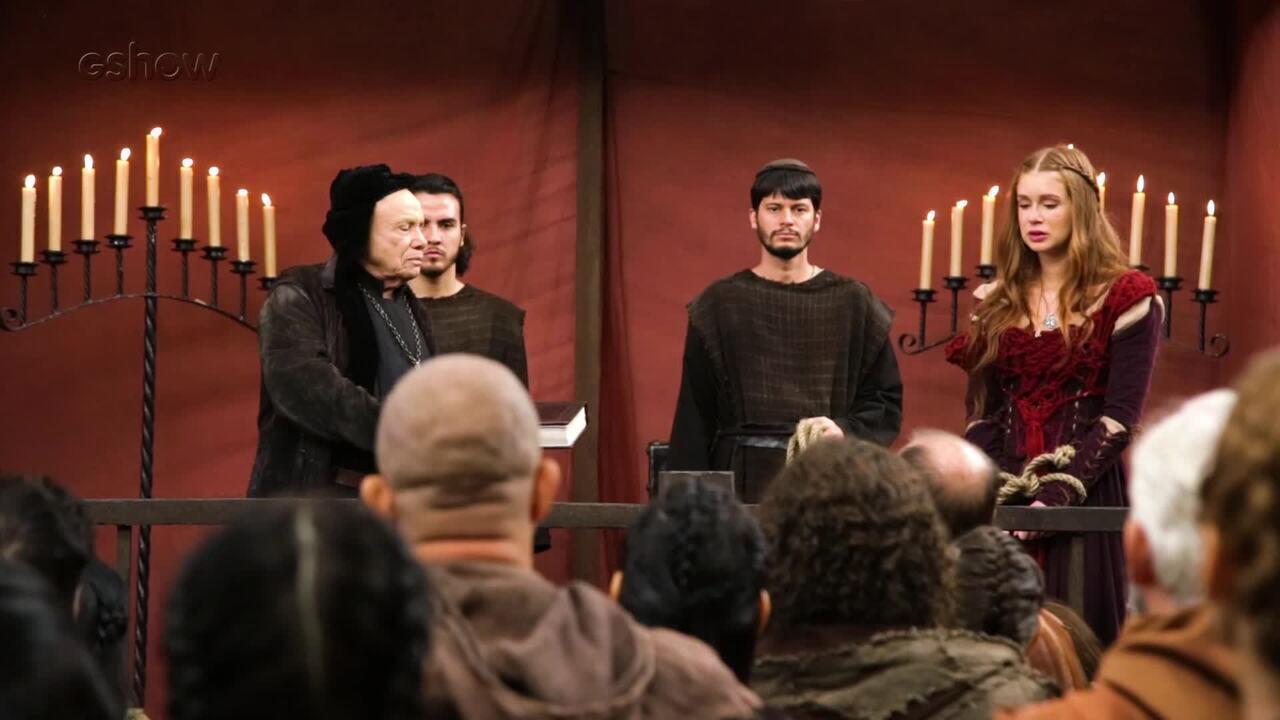 Veja os bastidores do julgamento de Amália em 'Deus Salve o Rei'